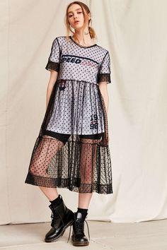 Urban Renewal Remade Sheer Mesh Midi Dress