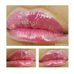 Sheer pink full lips glam done by Cilla Glamm
