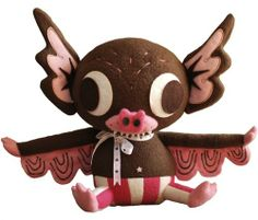 Hermees Plush - Neapolitan, NYCC 2013, Clutter figure by Gary Ham X Lana Crooks. Front view.