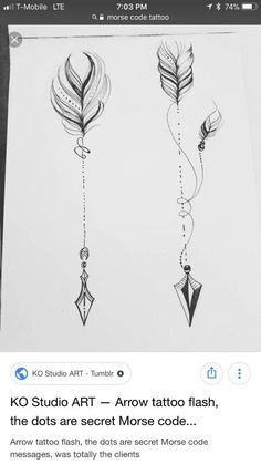 arrows - Tattoo ideen - Tattoo Designs For Women Arrow Tattoos For Women, Dragon Tattoo For Women, Anklet Tattoos For Women, Morse Code Tattoo, Arrow Tattoo Design, Tattoo Arrow, Meaning Of Arrow Tattoo, Freundin Tattoos, Anklet Designs