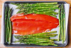 Lemon Pepper Garlic Rainbow Trout and Asparagus baked on a sheet pan in the oven. Healthy, low-carb, gluten free, keto-friendly recipe, packed with healthy omega 3 fatty acids. Easy and quick - only 30 minutes from start to finish! Rainbow Trout Recipe Baked, Rainbow Trout Recipes, Baked Trout, Fish Recipes, Baking Recipes, Baked Asparagus, Lemon Pepper, Meal Planning, Garlic