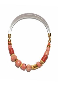 Lizzie Fortunato Carved Coral Collar at ShopGoldyn.com