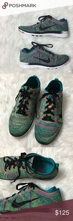 Women's Nike Free TR Fit Flyknit Brand new with the box but no lid. Multicolor. Sold out shoe! Nike Shoes Athletic Shoes