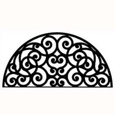 Half round wrought iron metal wall decor with an circle scroll design is great for display over your door, bed or fireplace.Instantly add a touch of style to your home walls with this decorative piece of wrought iron wall . Wrought Iron Wall Decor, Iron Decor, Metal Wall Decor, Metal Wall Art, Wall Art Decor, Stencils, Tuscan Design, Tuscan Decorating, Decorating Ideas