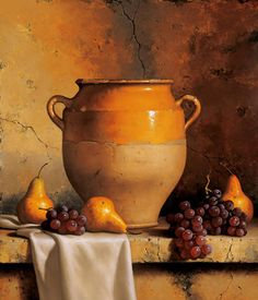 Confit Jar with Pears & Grapes by Loran Speck (artist)