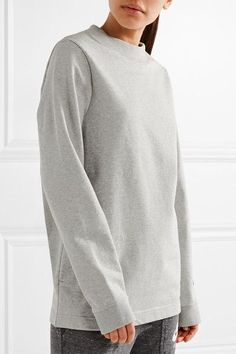 Nike - Nikelab Essentials French Stretch-cotton Terry Sweatshirt - Light gray - x small