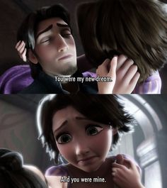 """You were my new dream.. "" ~ Tangled (2010) ~ Movie Quotes #amusementphile"