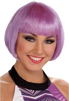 Chic Bobbed Lilac Wig