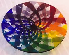 Marlow Glass Arts :: Platters :: Rainbow Ribbons