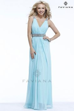 Faviana S7165 Beautiful #faviana #gown perfect for #prom or #nightout. Comes in multiple colors. #dress #cocktail #beautiful #evening #spring #ballgown #2014