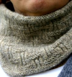 Stonehenge Cowl.  Unisex pattern ... But I'd call it a neck warmer if knitting for a man.