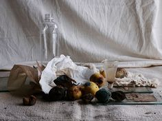 New York-based designer Diane Gatterdam along with San Francisco-based photographer Laurie Frankel created these still lives made from discarded items. The images look a bit like Dutch still life paintings from the 17th century, with crumpled water bottles instead of silver goblets and rotting vegetables instead of the typical cornucopia.