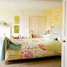 Bedroom:Decorating Cute Bedroom Ideas With Nice Color Scheme Summer Interior Design Idea Of Cute Bedroom Ideas Feat Floral Sheet And Vibrant Walls