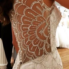 Sneak peek of this gorgeous floral crystal beadwork we are debuting at the couture show this weekend! Thoughts?  #sexyback #bridalweek #bridalmarket #coutureshow #weddingdress #beads #beadwork #justinalexander #bridal #weddings #ja #sayido #love @coutureshow @theknot