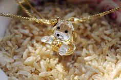 Antique Swarovski puppy early 1990s by bewitchedballroom on Etsy, $55.00
