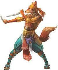 Kitsune Rogue - Pathfinder PFRPG DND D&D d20 fantasy