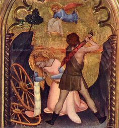Giovanni da Milano - Polittico di Prato, particolare Martirio di Santa Caterina d'Alessandria - 1353 - Chiostro di San Domenico - Prato