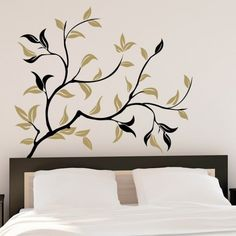 Stickers alle pareti - Gli stickers alle pareti sono perfetti per decorare la camera da letto in modo divertente.