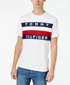 Tommy Hilfiger Men's Upstate Logo Flag T-Shirt - White 3XL
