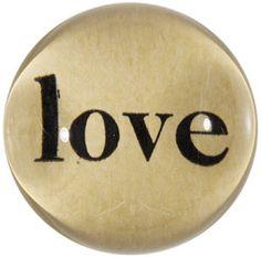Love, John Derian Decoupage Dome Paperweight