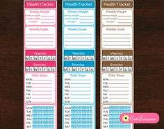 Yesterday someone in my group shared the idea of health tracker stickers in weekly sidebar and many ladies liked the idea so I thought I should make some Free Printable Health Tracker Side Bar Stickers for you. These stickers are in 1.75″x7″ in size so these should fit both happy planner and erin condren vertical life …