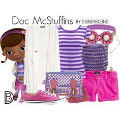 Doc McStuffins by DisneyBound Cute Disney Outfits, Disney World Outfits, Disneyland Outfits, Disney Inspired Outfits, Disney Dresses, Disney Fun, Disney Style, Cute Outfits, Disney Fashion