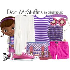 Doc McStuffins by leslieakay on Polyvore featuring MANGO, American Eagle Outfitters, Converse, LYDC, Monserat De Lucca, The Sak, disney, disneybound and disneycharacter