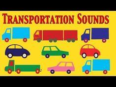 ▶ Cars, Trucks and Transportation sounds for Kids - learn - school - preschool - kindergarten - YouTube