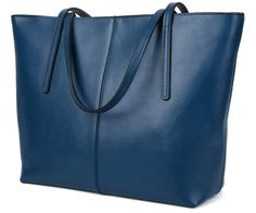 Tom Clovers Women's Leather Clutch Tote Bag Shoulder Bag for Women Genuine Leather Handbags Purses Blue. 100% Genuine leather cowhide with high-qualified hardware parts, Tom Clovers New Style Leather Handbag is in very good quality and excellently priced. Made of vintage letter along with high-qualified hardware, the bag forms a unique and natable outlook which highlight women's elegance. Zippered top closure with long shoulder handle, allowing you have a comfortable carrying option. One...