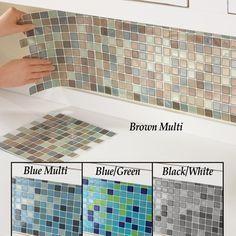 Mosaic Backsplash Tiles - Set of 6