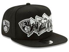a9b370223faa4 Brooklyn Nets New Era NBA Retroword Black White 9FIFTY Snapback Cap New Era  Snapback