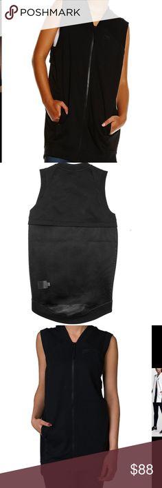Nike Lab Essentials black vest NWT Black tunic vest mesh back NWT Retail $165 Nike Jackets & Coats Vests