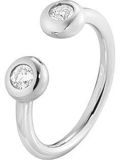GEORG JENSEN Aurora 18ct white-gold and diamond ring