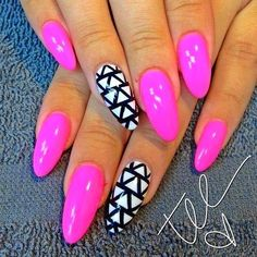 Pink Stiletto Nail Designs to Adore 2014