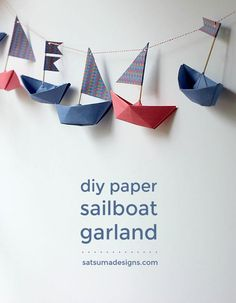 how to fold a paper boat garland   boat origami