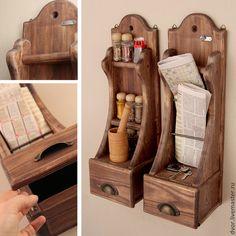 Аукцион на короб-столик для пикника и полочки с ящичками в стиле Maggi Massimo - Ярмарка Мастеров - ручная работа, handmade