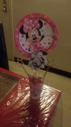 Minnie mouse b day party piece (Made by me) - Jessica
