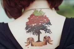 tree tattoo on the back