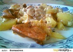 Rybí filé zapečené s bramborem, houbama a zázvorem recept - TopRecepty.cz