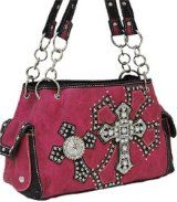 Hot Pink Double Cross & Wing Purse