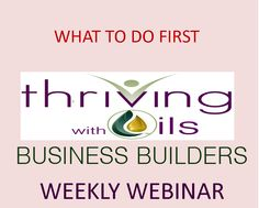 New distributor or want to be a distributor? Watch this video on WHAT TO DO FIRST!  Join our weekly Business Builder webinar if you are interested in Growing your Young Living Business. Facilitated by Fran Asaro a Life and Business Coach Register for the webinar here: http://www.anymeeting.com/PIID=EA57D981874C38  For more information about becoming a Young Living Distributor as a supplement to your income or as a career go to: http://www.franasaro.vibrantscents.com