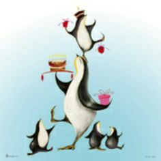 Penguins by Marilyn Robertson