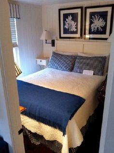 Narrow margins around bed   The Cottages at Cabot Cove (Kennebunkport, Maine) - B&B Reviews - TripAdvisor