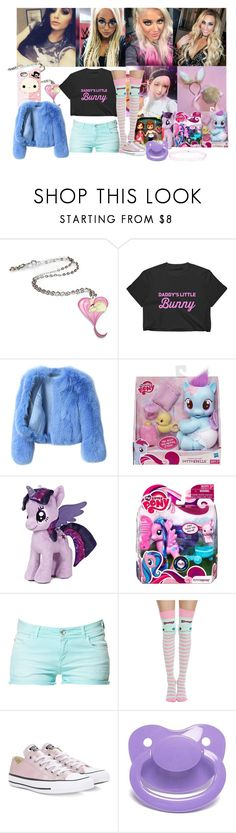 """""""geting spoiled"""" by hexgirl6672 ❤ liked on Polyvore featuring WWE, G.V.G.V., My Little Pony, Zara, Disney, Converse and Accessorize"""