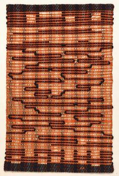 Anni Albers From the East, Cotton and plastic. (© Anni Albers, by SIAE, Anni Albers, Josef Albers, Textile Fiber Art, Textile Artists, Print Artist, Artist Art, Bauhaus Textiles, Peggy Guggenheim, Museums In Nyc