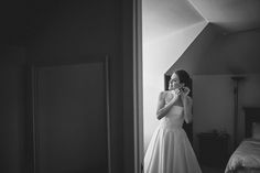 lovely bride getting ready All White Wedding, Bride Getting Ready, One Shoulder Wedding Dress, Wedding Dresses, Fashion, Bride Gowns, Wedding Gowns, Moda, La Mode