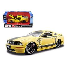 2006 Ford Mustang GT Yellow Pro Rodz 1/24 Diecast Model Car by Maisto