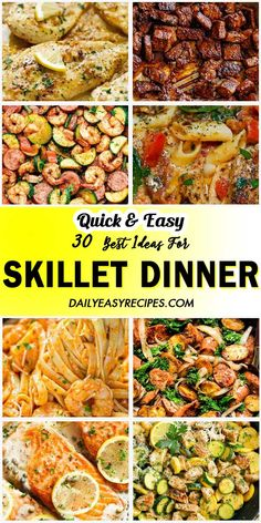 30 Amazing Skillet Dinner Ideas - Fish For Healthy Life Easy Dinner Recipes, Dinner Ideas, Easy Meals, Meal Ideas, Easy Recipes, Skillet Dinners, Skillet Recipes, Cooking Recipes, Healthy Recipes