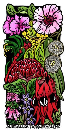Australian Floral Emblems Tall