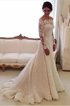 Wedding Dress Mermaid, Wedding Dresses 2018, Wedding Dress Lace, 2018 Wedding Dress, Wedding Dress With Appliques, Wedding Dress With Sleeves #WeddingDressLace #WeddingDressWithSleeves #WeddingDresses2018 #WeddingDressWithAppliques #2018WeddingDress #WeddingDressMermaid